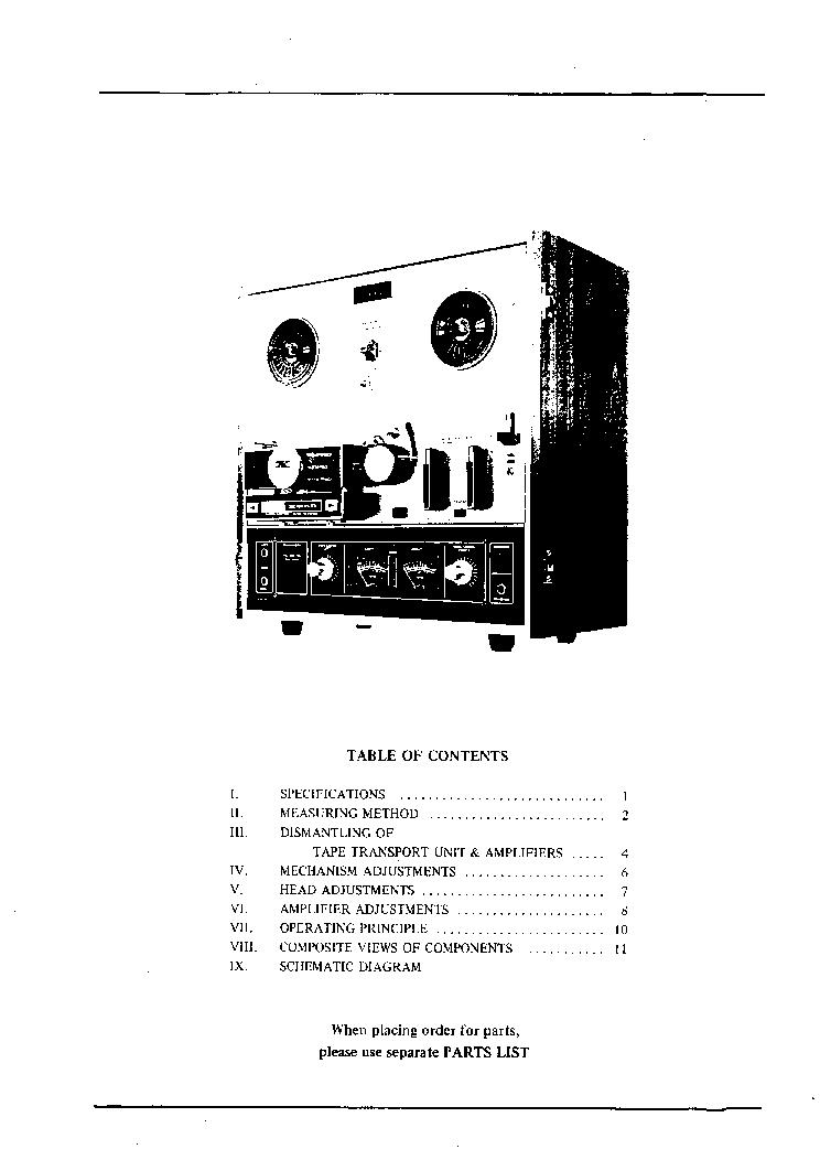 AKAI X-201D SM Service Manual download, schematics, eeprom