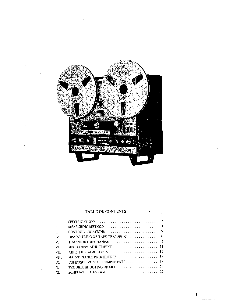 AKAI X-330 X-330D SCH Service Manual download, schematics