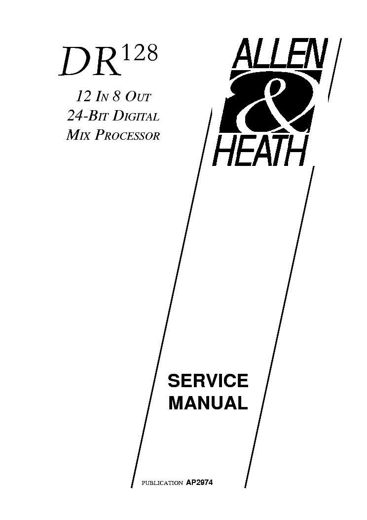 ALLEN-HEATH DR128 Service Manual free download, schematics