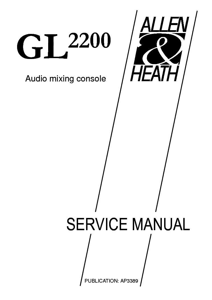 ALLEN HEATH SR20 SR28 SCH Service Manual download