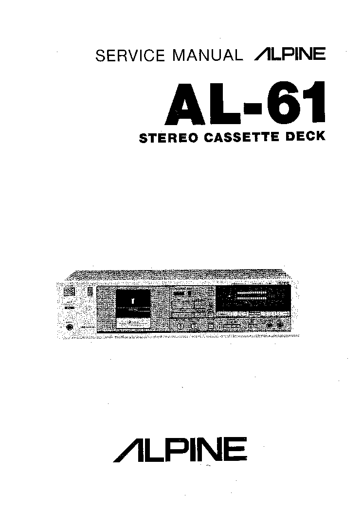 ALPINE AL-61 Service Manual download, schematics, eeprom