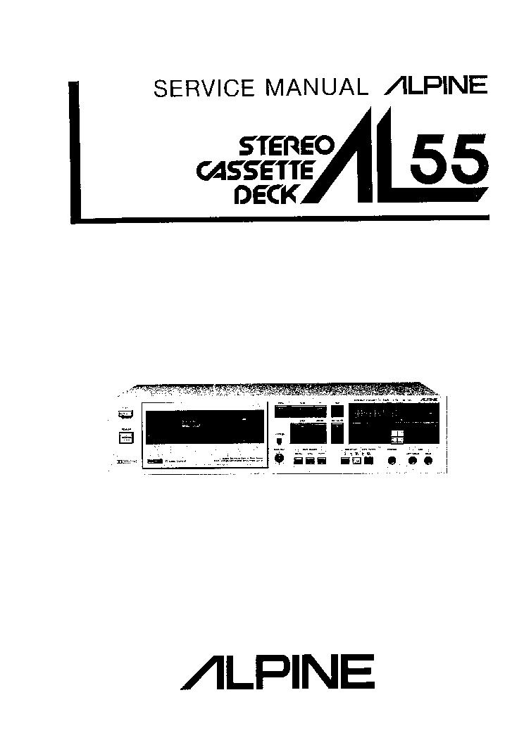 ALPINE AL-80 Service Manual download, schematics, eeprom