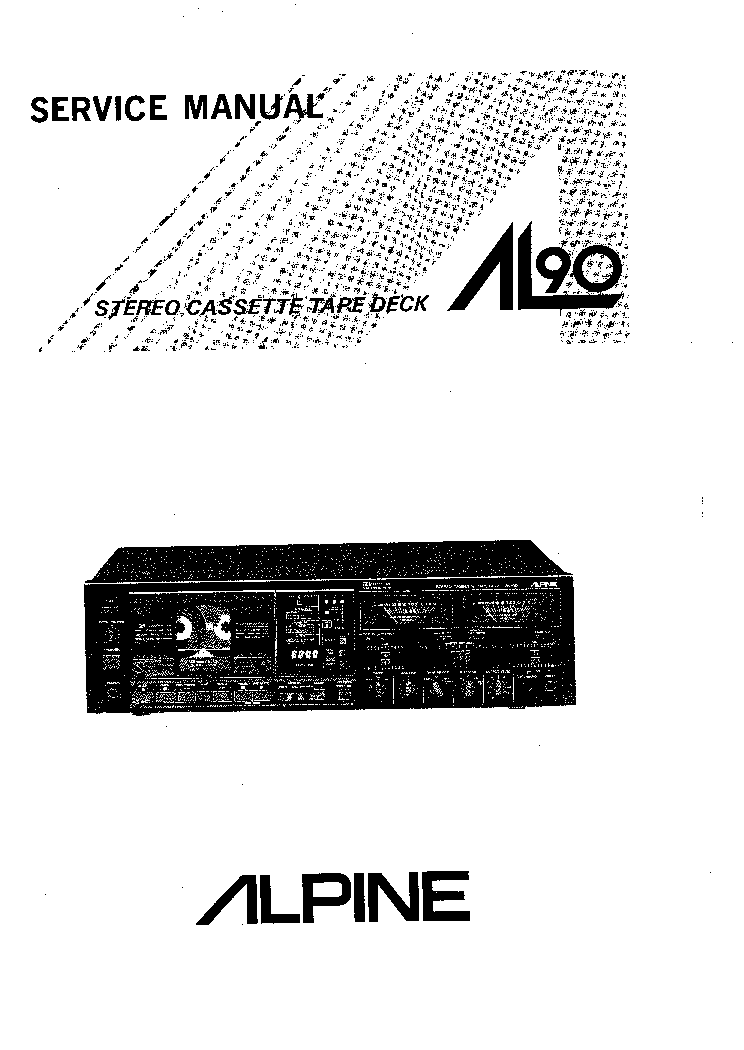 ALPINE ALPEGE AL300 SM Service Manual download, schematics