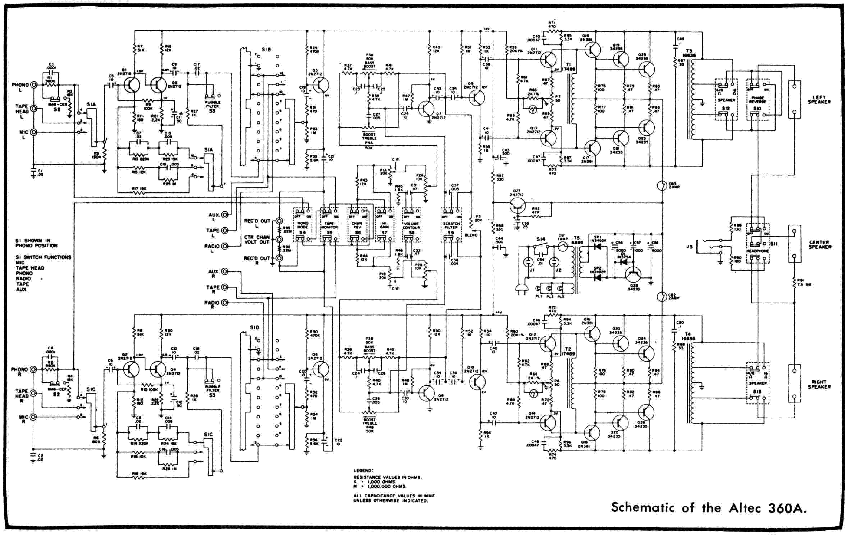Altec 360a Sch Service Manual Download Schematics Eeprom