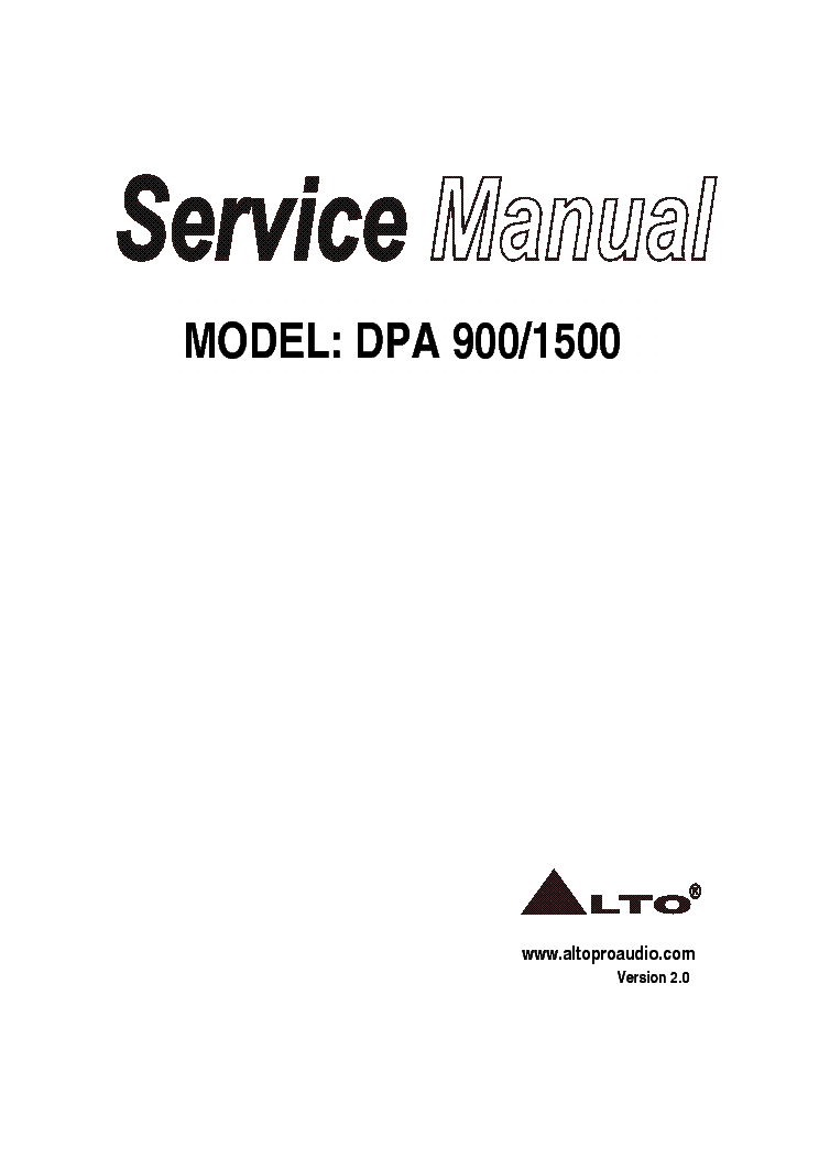ALTO MAC SERIES 2.4 SM Service Manual free download