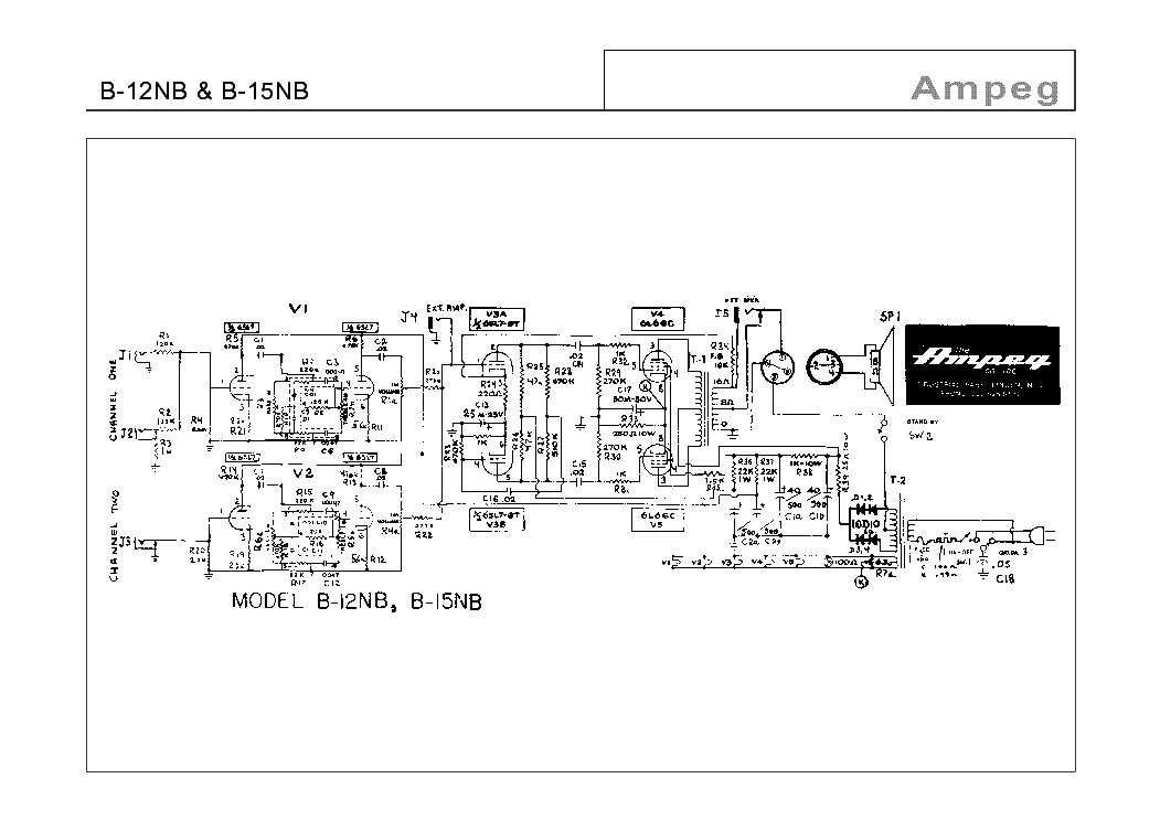 AMPEG SVT-2 PRO Service Manual download, schematics