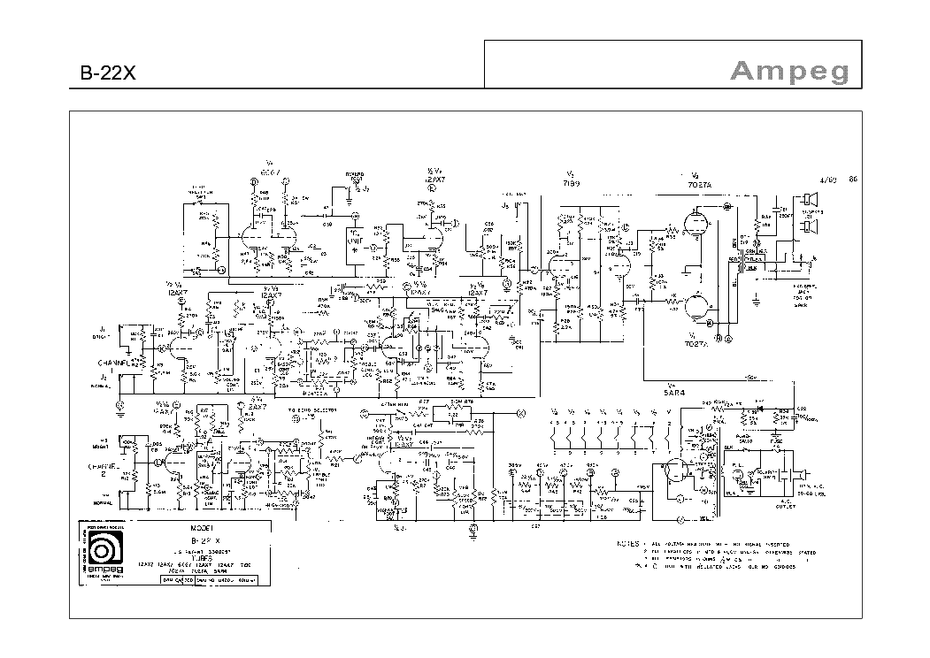 AMPEG VL-1001,1002 Service Manual download, schematics