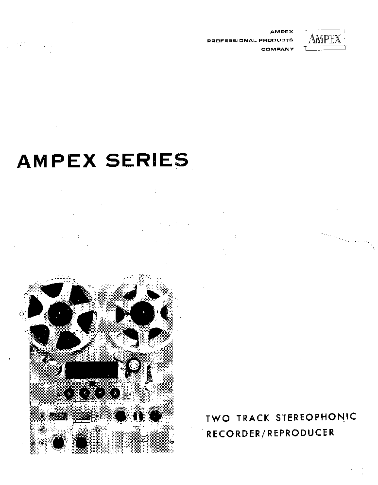 AMPEX 620 Service Manual download, schematics, eeprom