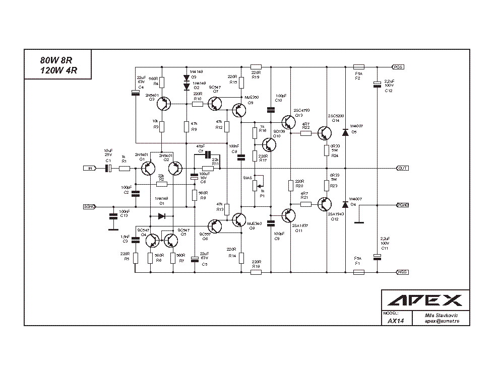 APEX H900 SCH Service Manual download, schematics, eeprom