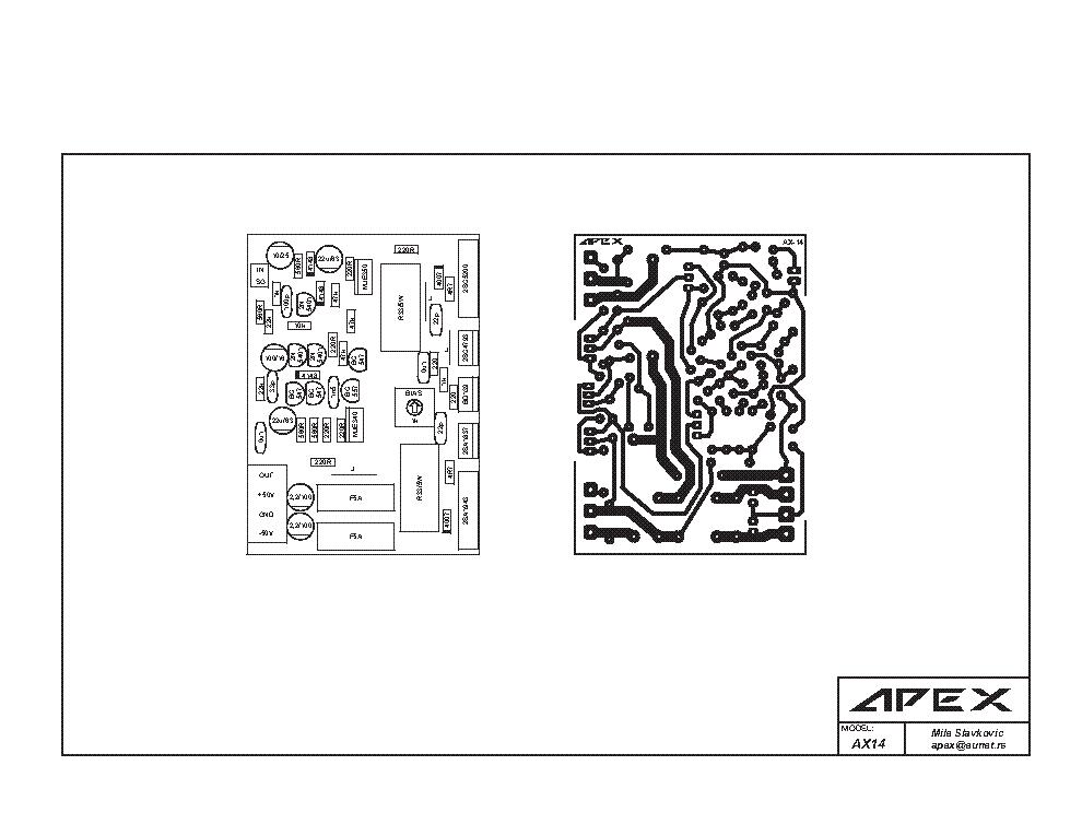 APEX AX14 SCH Service Manual download, schematics, eeprom
