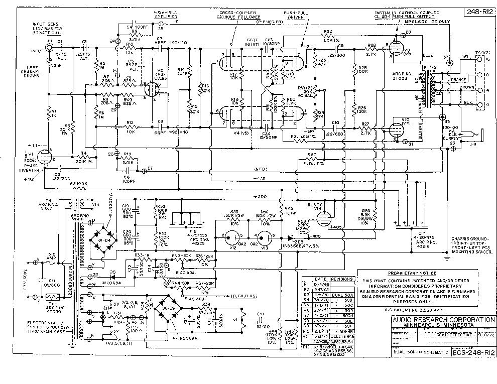 AUDIO-RESEARCH D50 SCH Service Manual download, schematics