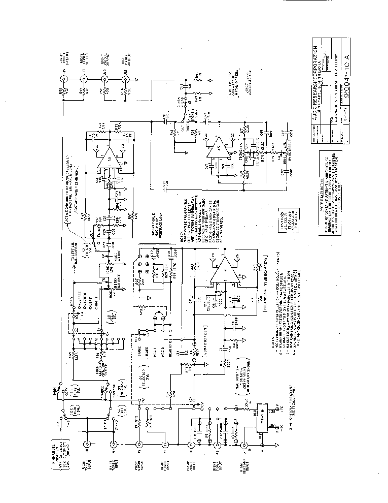 AUDIO-RESEARCH SP4 SP4A PREAMPLIFIER Service Manual