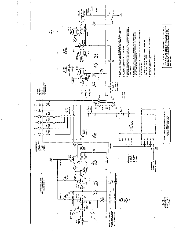 AUDIO-RESEARCH SP8 REV.7 PREAMPLIFIER Service Manual