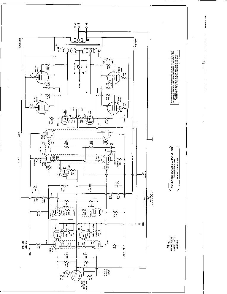 AUDIO-RESEARCH VT100 AMPLIFIER SM Service Manual download
