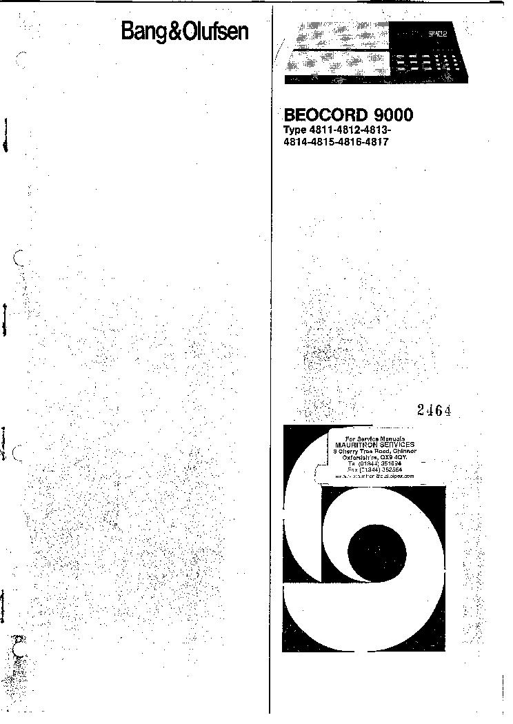 BANG-OLUFSEN BEOCORD-9000 TYPE-4811 4812 4813 4814 4815