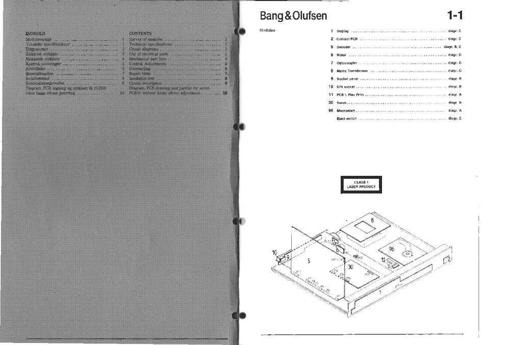 medium resolution of bang olufsen beogram cd 5500 6500 7000 service manual 2nd page
