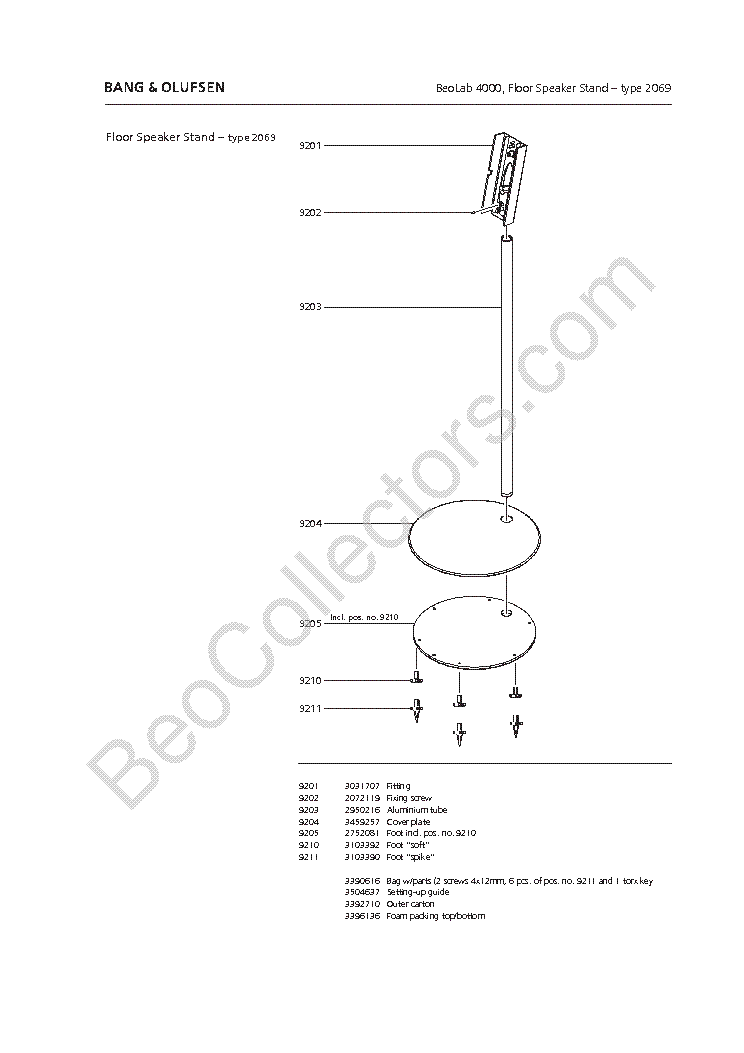 BANG-OLUFSEN BEOLAB 4000 663X Service Manual download