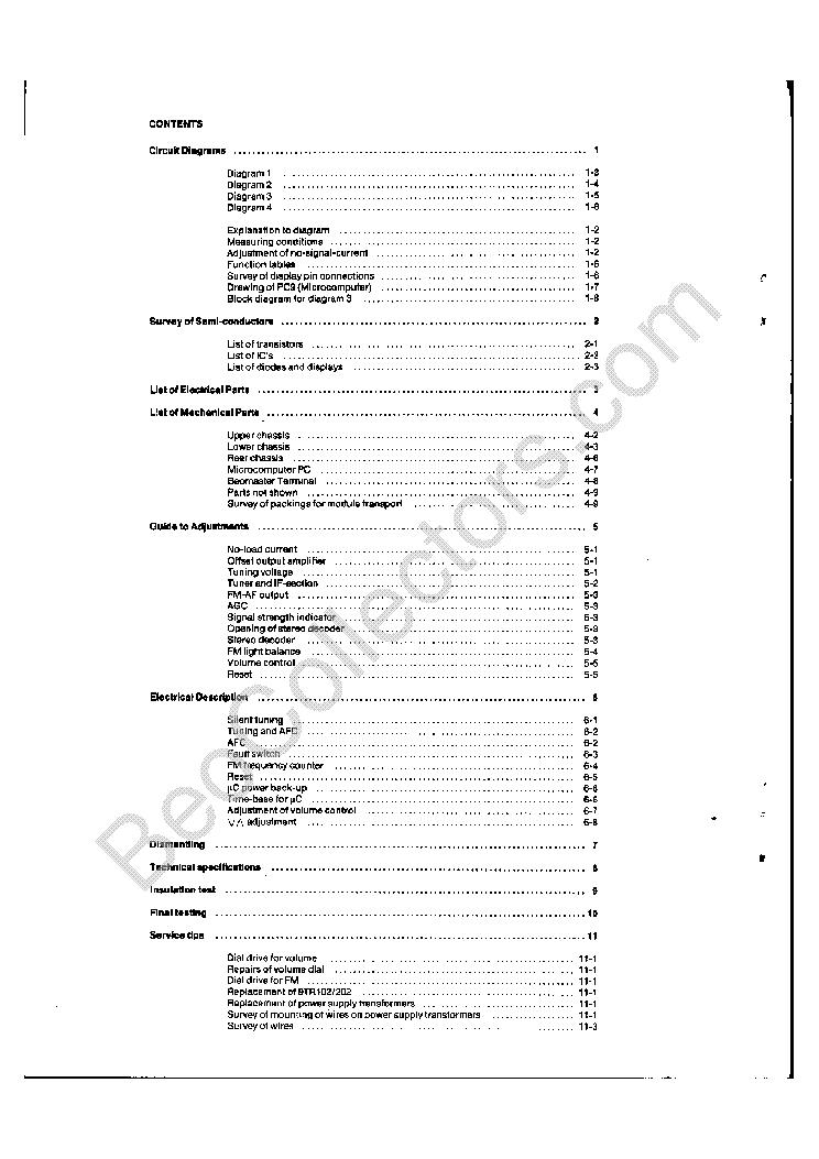 BANG-OLUFSEN BEOMASTER 6000 Service Manual download
