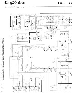 BANGOLUFSEN MCL 2P Service Manual download, schematics