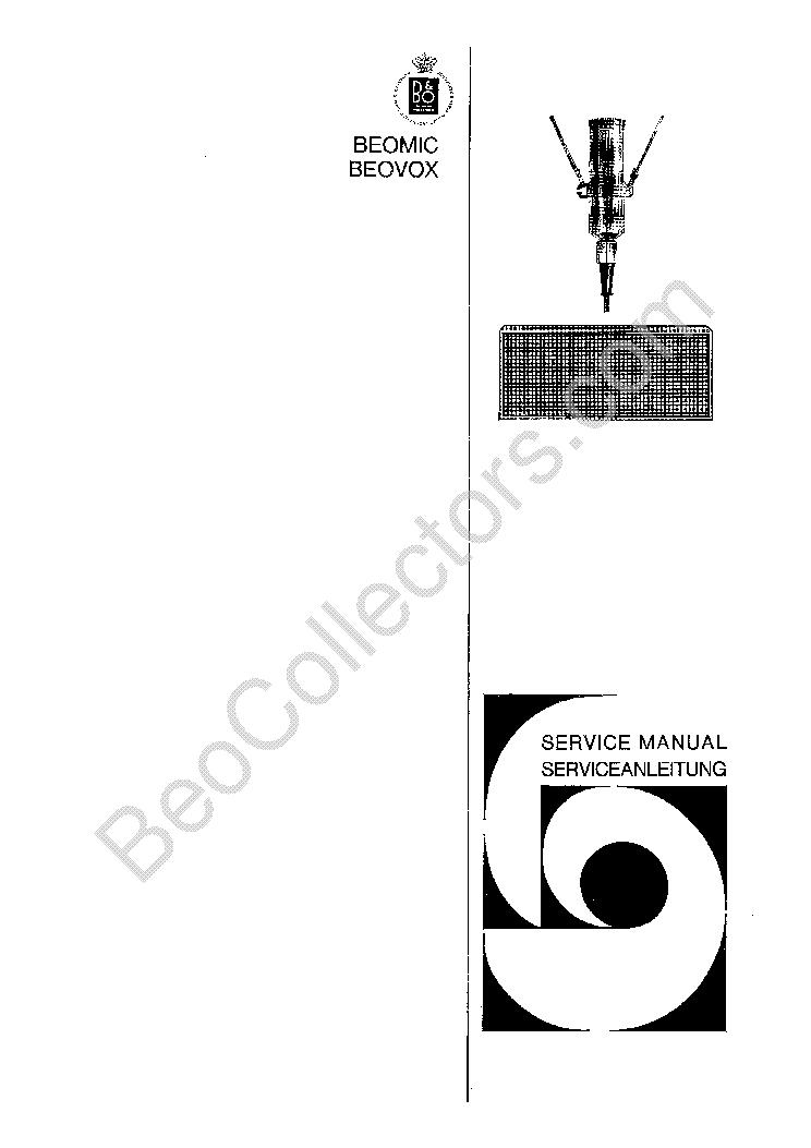 BANG OLUFSEN BEOMIC 1000 Service Manual download
