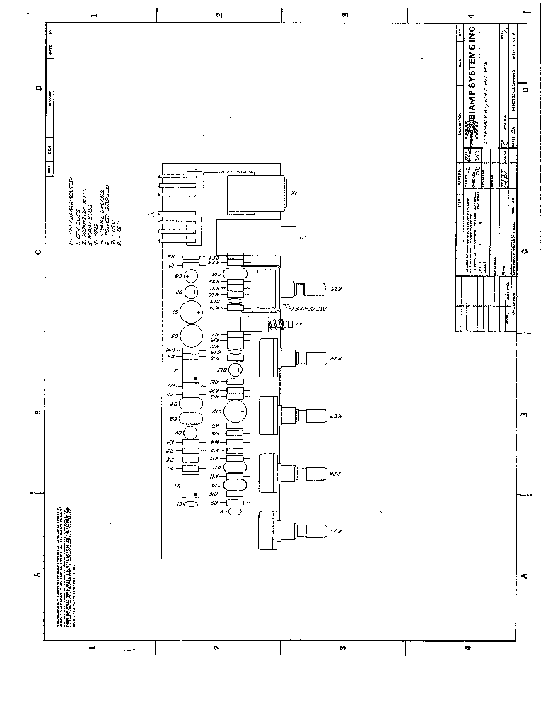 BIAMP 19 SERIES POWERED MIXER SCHEMATIC Service Manual