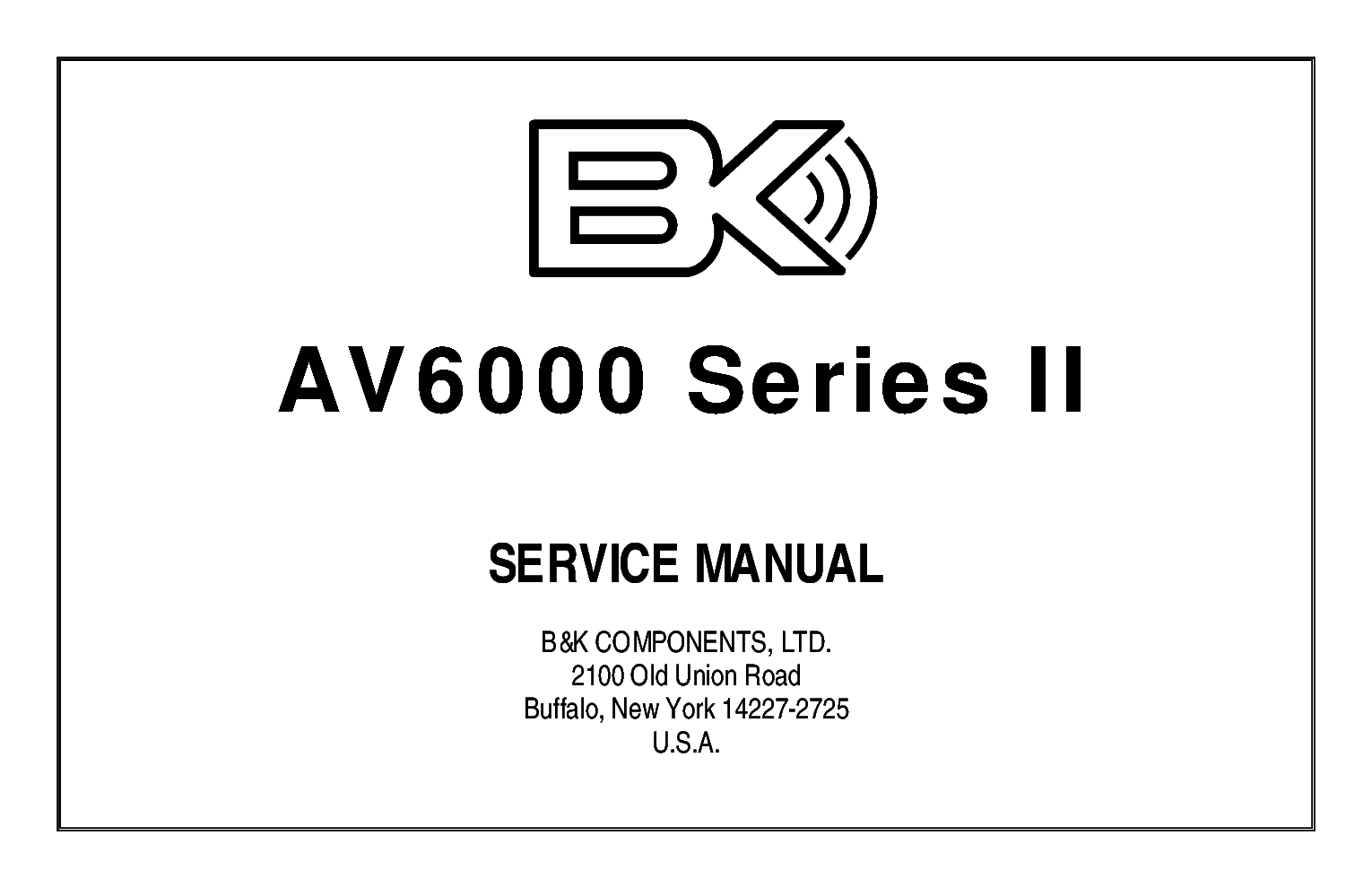 BK AVR305 AVR307 Service Manual download, schematics