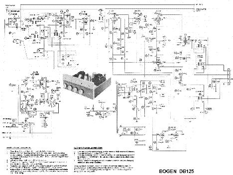 BOGEN CHB-100 SCH Service Manual free download, schematics