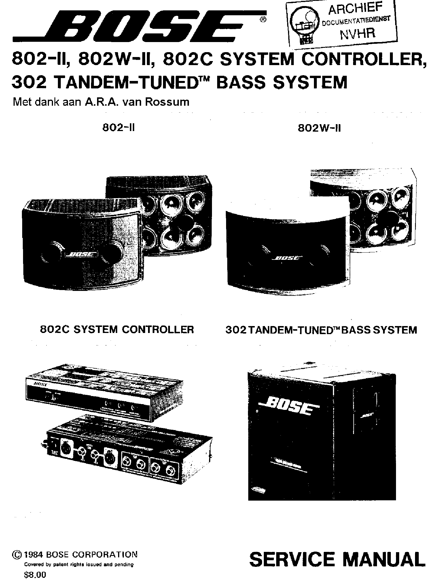 BOSE ACOUSTIMASS 5 SERIES IV AM-5P IV Service Manual free