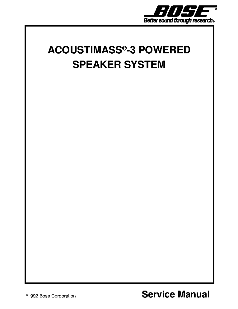 BOSE LIFESTYLE-CD5 Service Manual download, schematics