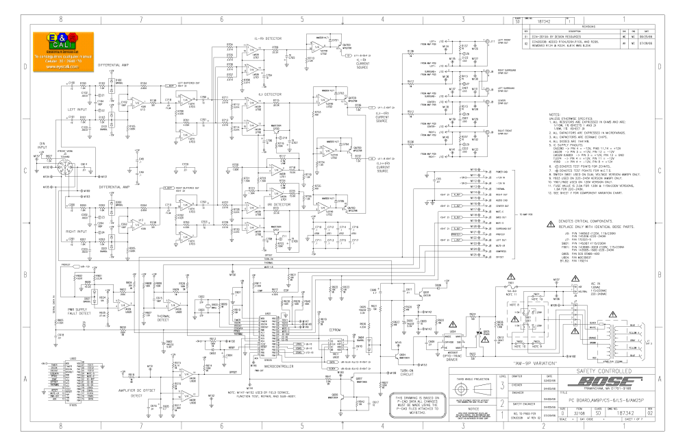 medium resolution of bose amp9l cs6 ls6 am25p service manual download schematics eeprom rh elektrotanya com bose subwoofer wiring