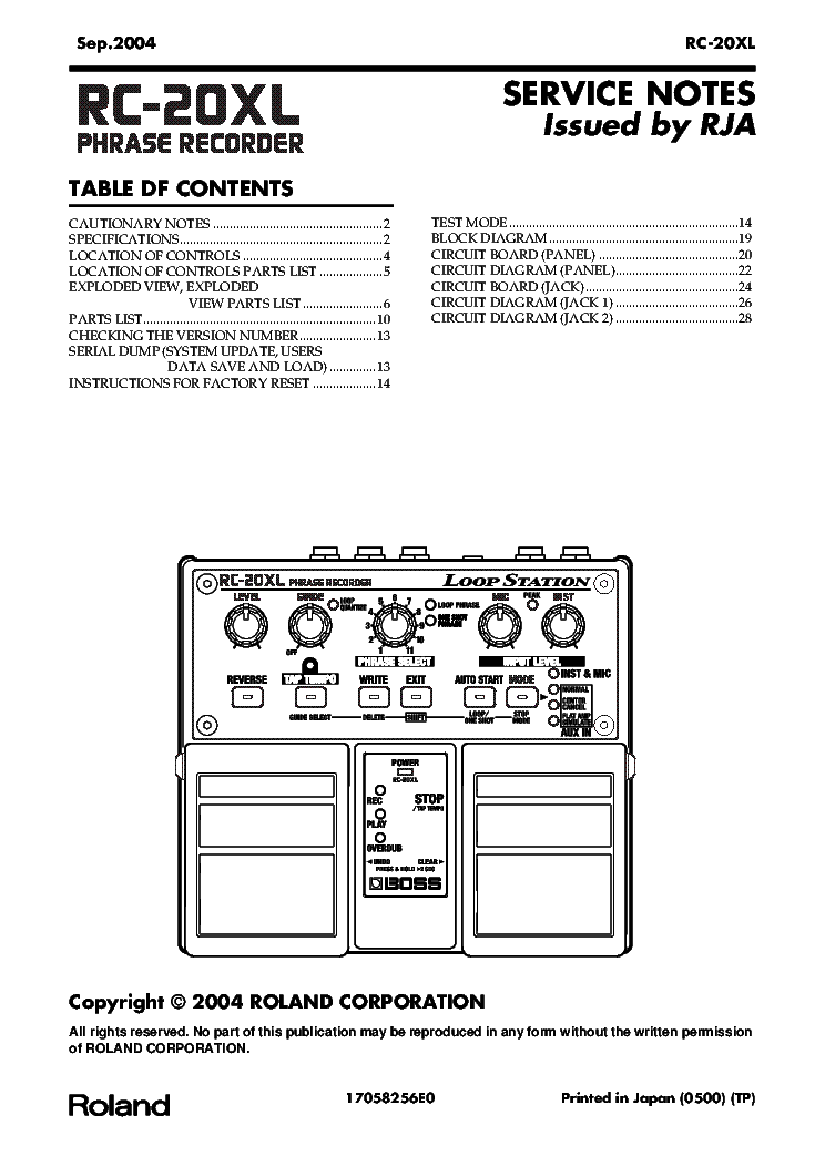 BOSS AUTOWAH AW-2 Service Manual download, schematics