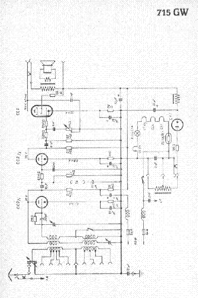 BRAUN 715GW RADIO SCH Service Manual download, schematics
