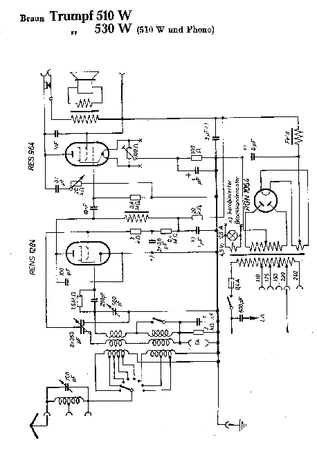 BRAUN TRUMPF 510W 530W RADIO SCH Service Manual download