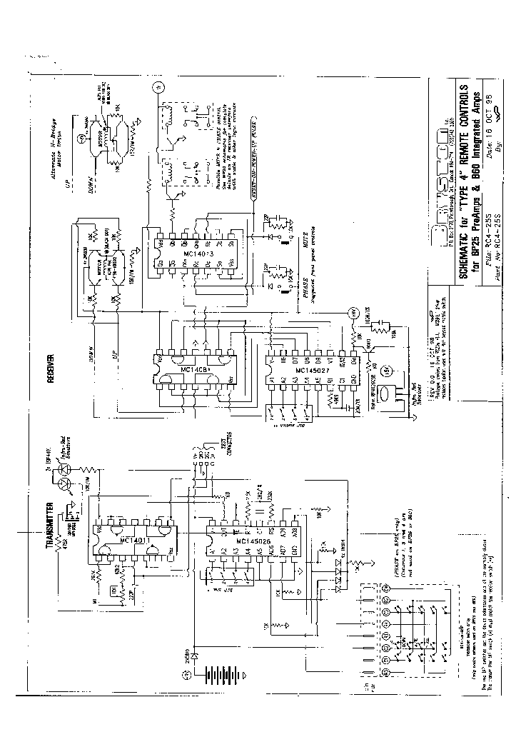 BRYSTON BP25,B60R SCH Service Manual download, schematics