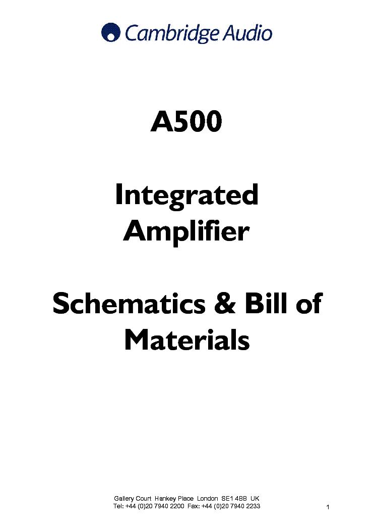 CAMBRIDGE AUDIO 340A SCH Service Manual free download