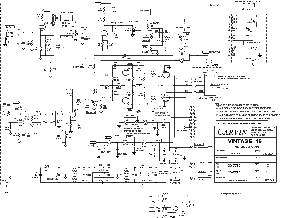 carvin vintage 16 amp schematic