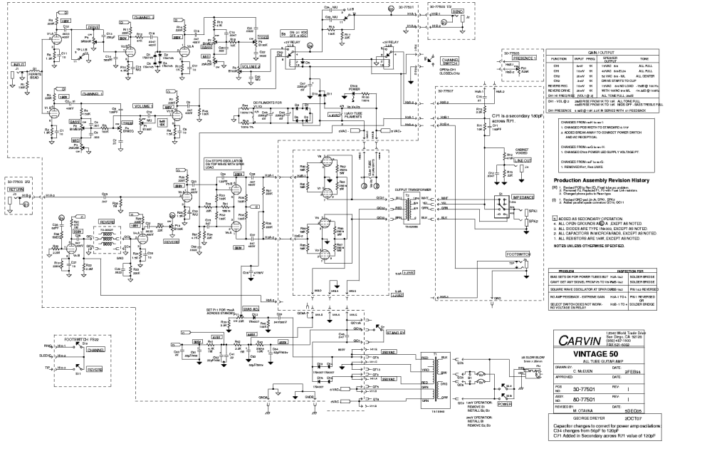 medium resolution of carvin legacy schematic wiring diagram carvin legacy schematic