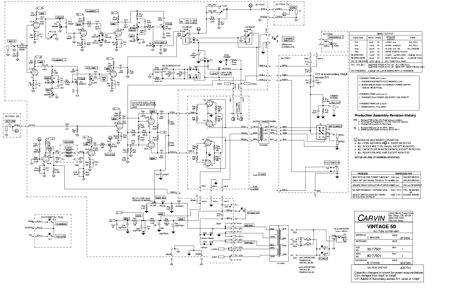 hight resolution of carvin legacy schematic wiring diagram carvin legacy schematic