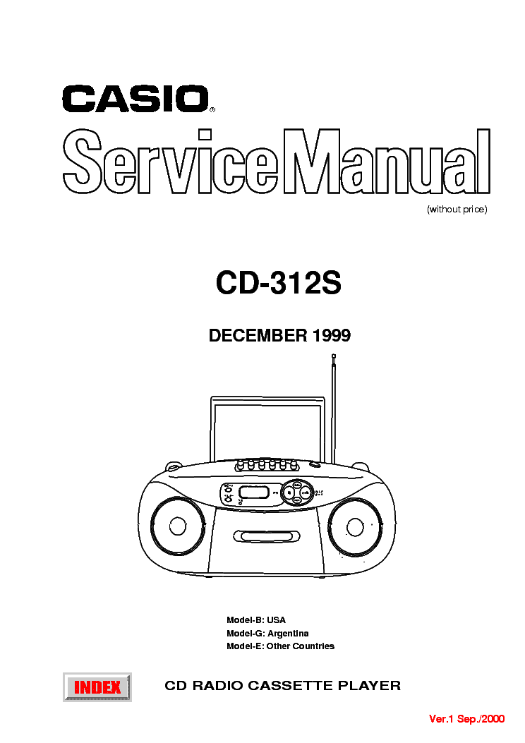 CASIO CD312S SM Service Manual download, schematics