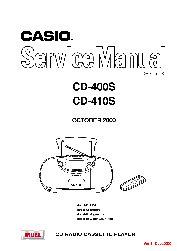 CASIO CD400S-410S SM Service Manual download, schematics
