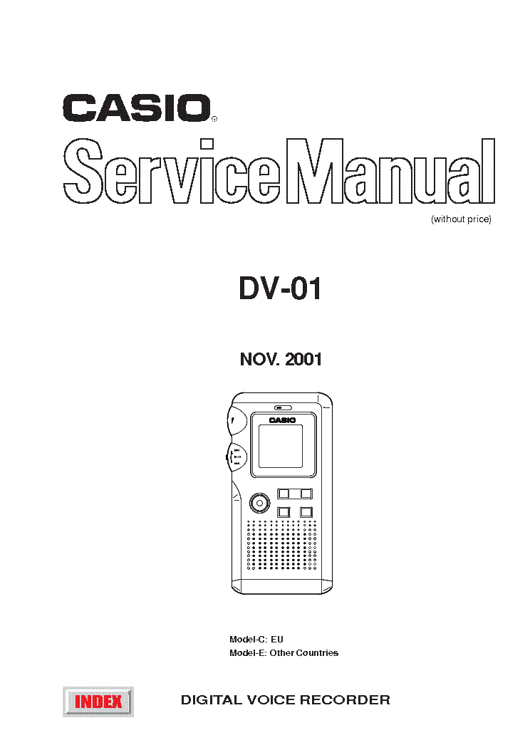 CASIO CD370S Service Manual download, schematics, eeprom