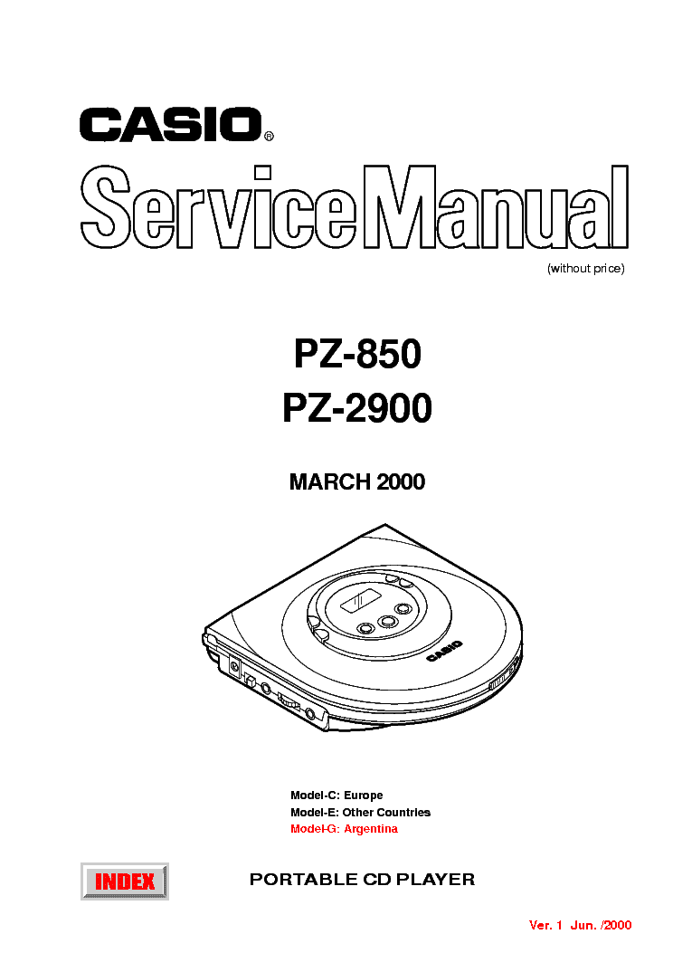 CASIO PZ-850 PZ-2900 Service Manual download, schematics