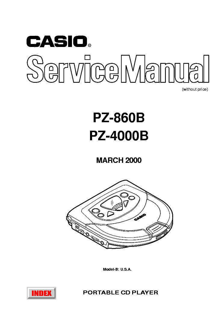 CASIO CD370S Service Manual free download, schematics