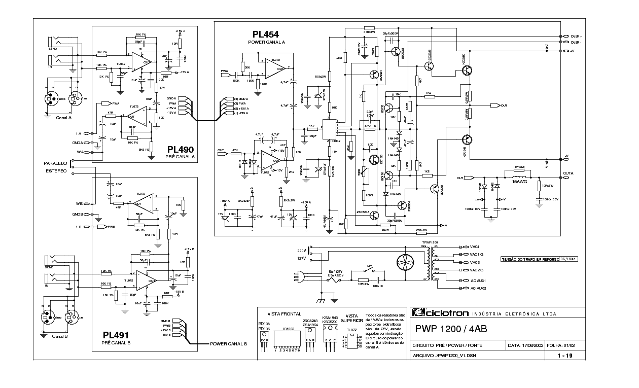 CICLOTRON PRC-200 SCH Service Manual download, schematics