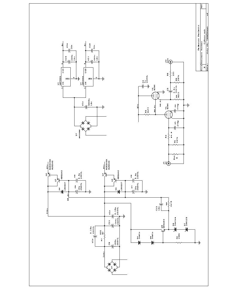 CONRAD-JOHNSON PV10 SCH Service Manual download