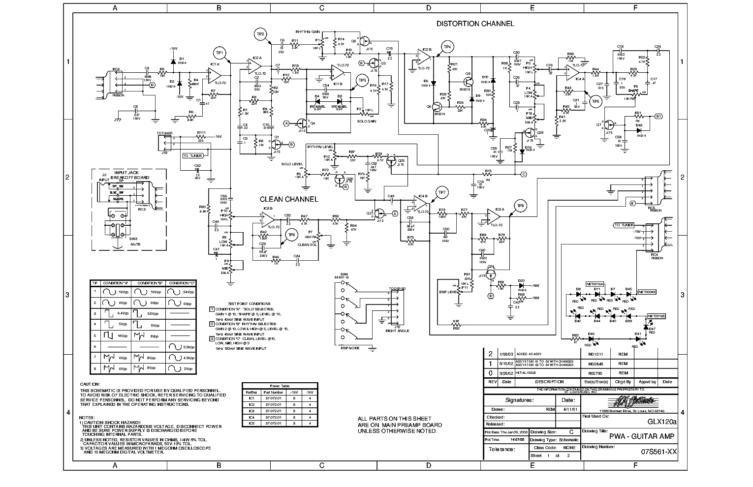 CRATE PA-8 MIXER SCH Service Manual download, schematics