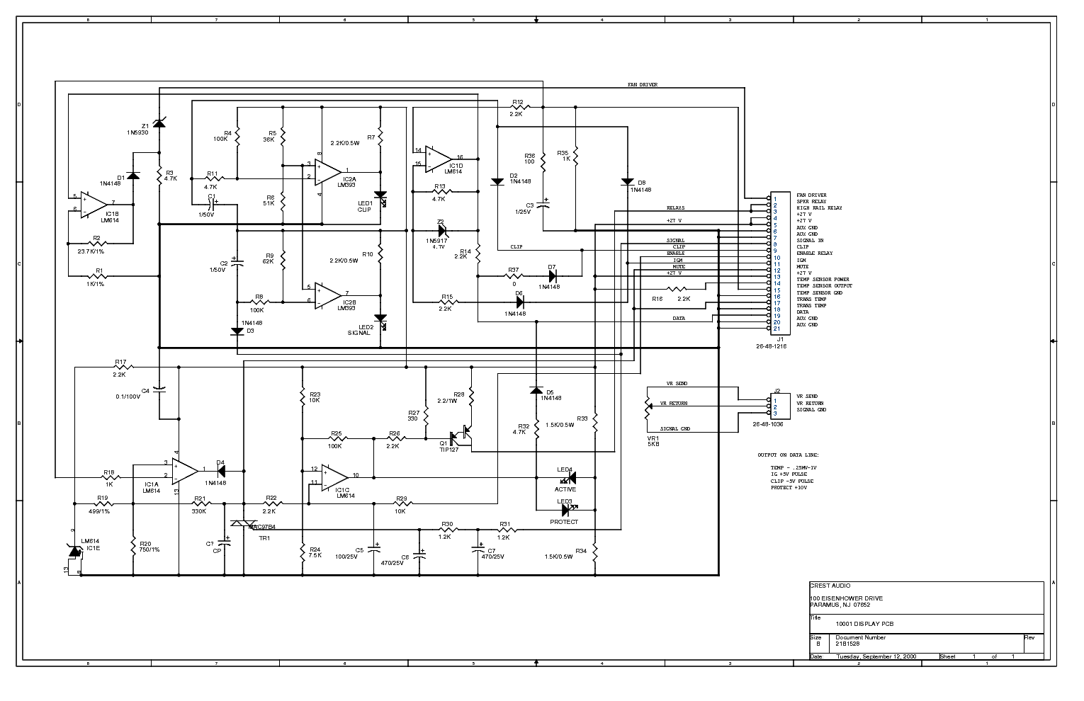 CRESTAUDIO PRO 10001 Service Manual download, schematics