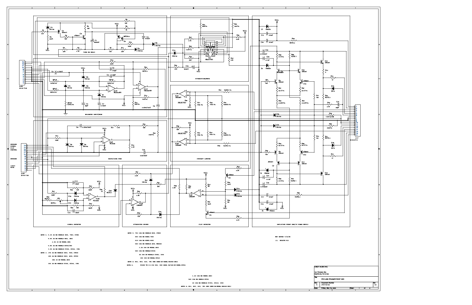 CRESTAUDIO PRO 4801 Service Manual download, schematics