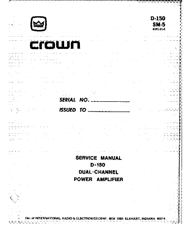 CROWN MACRO-TECH MA-5000VZ SCH Service Manual download