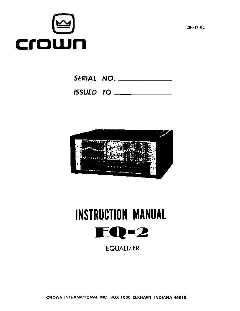 CROWN IC-150 PRE-AMP Service Manual free download